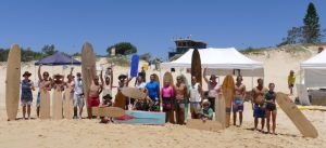 eco challenge wooden surfboard event