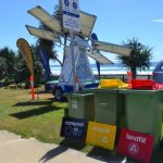 Waste station & Solar powered busking stage