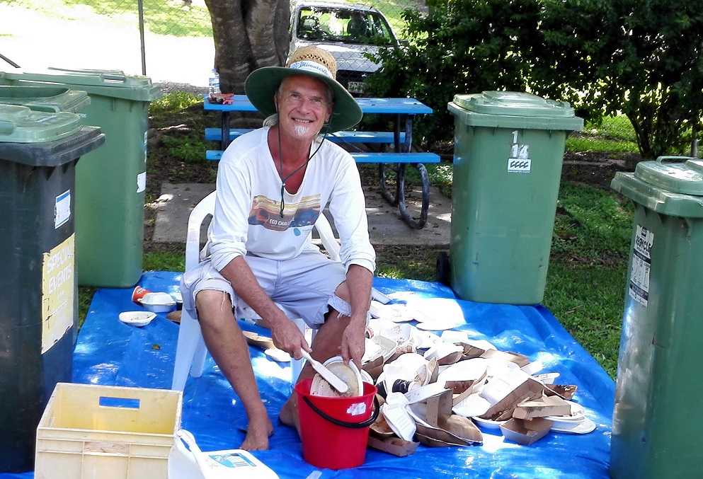 washing an events compostables